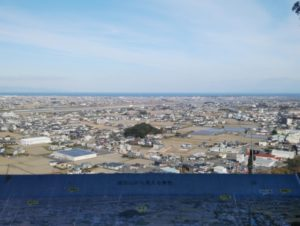 西方山(西方城)から見た風景