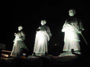 坂本龍馬・中岡慎太郎・武市半平太の銅像