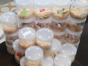 カブクワ成虫の飼育容器の集合