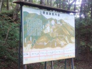 上原城址の看板