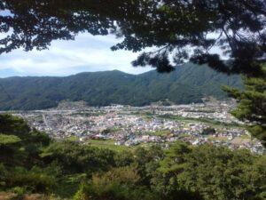 上原城址の神社から眺望