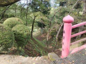 春日城の堀切を上から見下ろした光景
