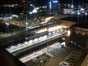 ホテルから撮った高山駅