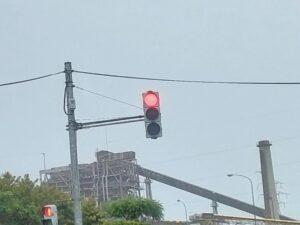 糸魚川市の縦の信号