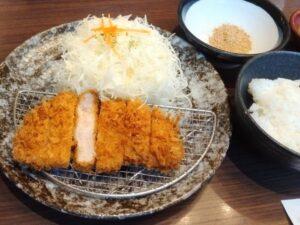 平田牧場レストランのとんかつ