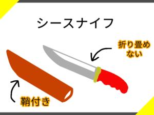 シースナイフのイラスト